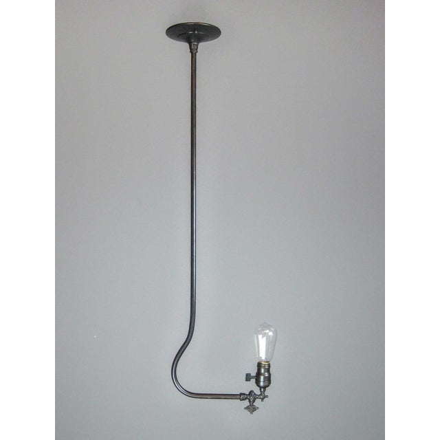 Gas Light Fixture with Tungsten Bulb - Image 2 of 7