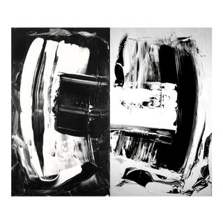 """Diptych"" Acrylic Painting"