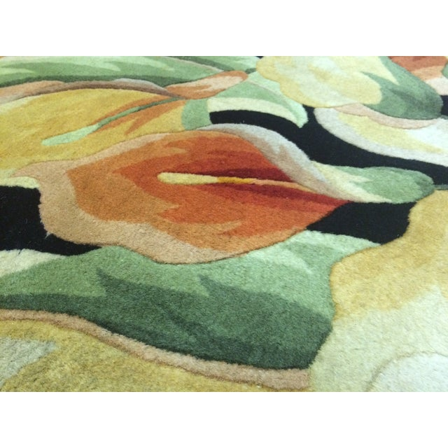 "Colorful Floral Rug - 3'3"" X 4'6"" - Image 4 of 5"