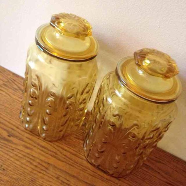 Le Smith Imperial Glass Canisters - Image 5 of 5