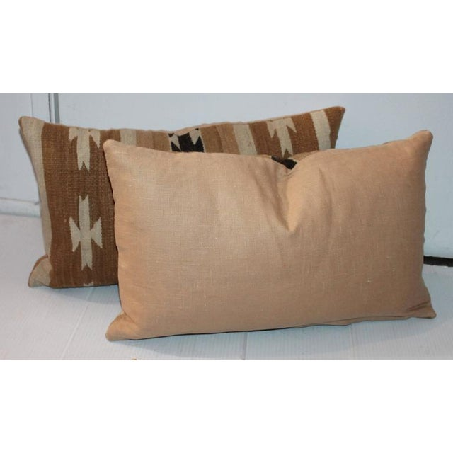 Pair of Chinle Navajo Indian Weaving Bolster Pillows - Image 2 of 5