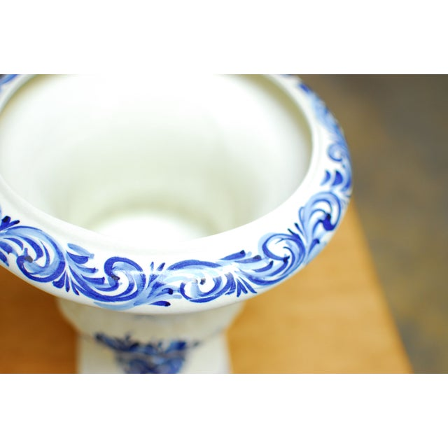 Blue & White Portuguese Porcelain Urns or Vases - A Pair - Image 4 of 5