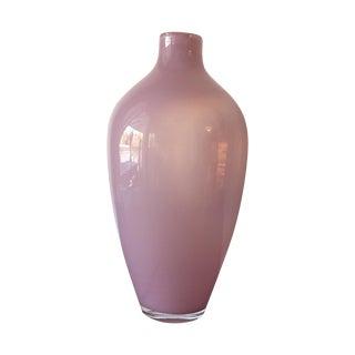 Vintage Hand Blown Pink Glass Vase