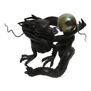 Bronze Dragon with Art Glass Globe