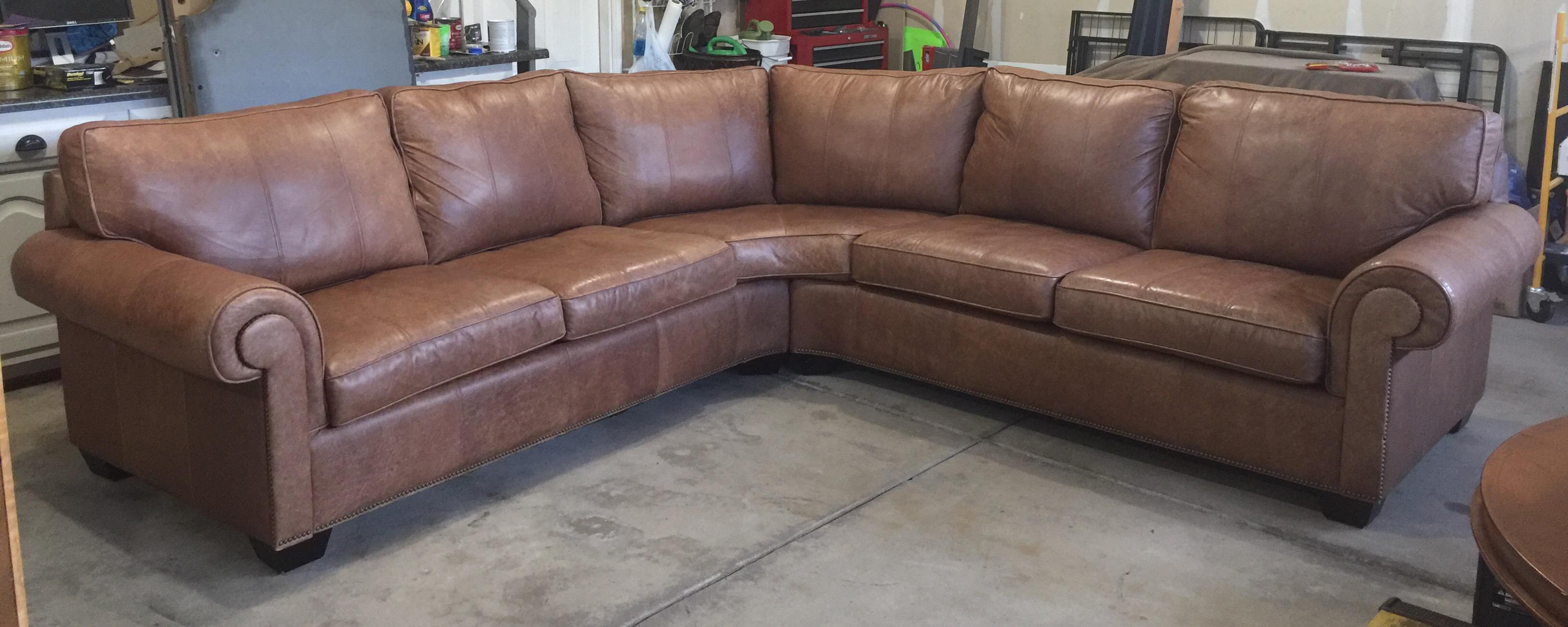Bernhardt Essex Leather Sectional - Image 2 of 9  sc 1 st  Chairish : bernhardt leather sectional - Sectionals, Sofas & Couches