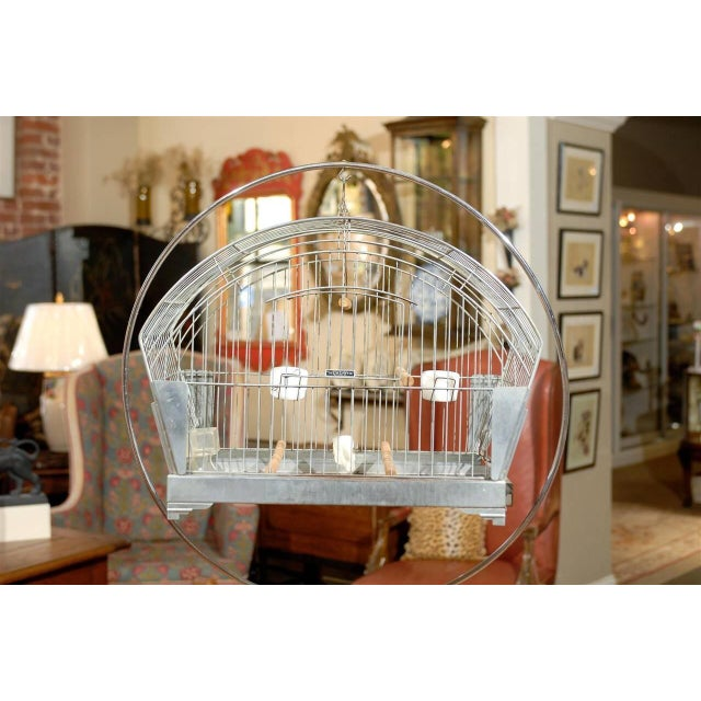 Hendryx American Art Deco Bird Cage on Stand - Image 2 of 5