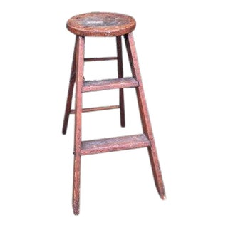 Primitive Wood Stepping Stool
