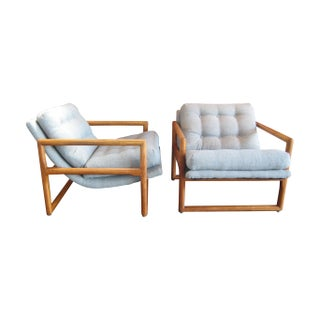 Milo Baughman Attributed Easy Chairs - A Pair