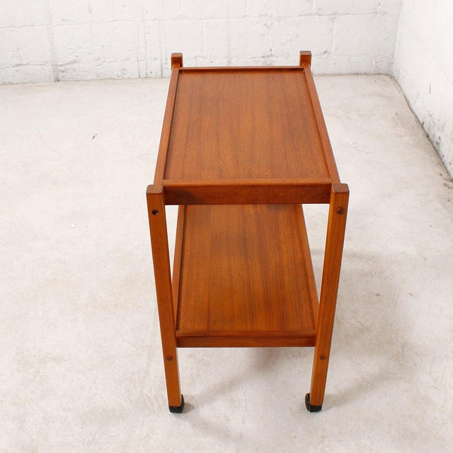 Compact Teak Bar/Serving Cart - Image 5 of 7