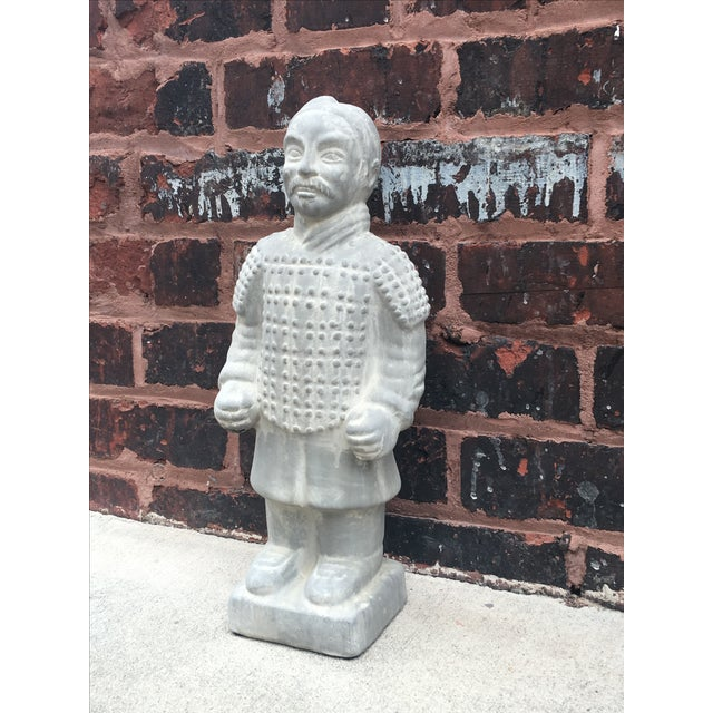 Vintage Large Chinoiserie Warrior Statue - Image 3 of 4