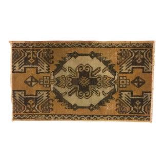 Bohemian Turkish Handwoven Carpet - 1′7″ × 2′9″