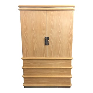 Jay Spectre for Century Furniture Bleached Oak Armoire