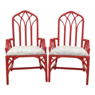 Henry Link Chiang Mai Dragon Armchairs - a Pair