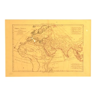 1781 Europe Asia & Africa Map by Bonne