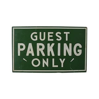 Guest Parking Only, Screen Printed Sign
