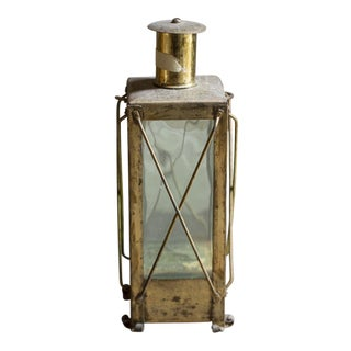 Vintage Swedish Brass Music Bottle Lantern