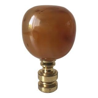 Vintage Amber Lamp Finial