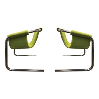 Cantilevered Zermatt Sling Chairs by Vecta Group, Italy - A Pair