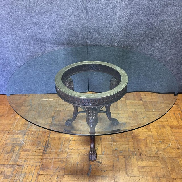 Regency-Style Glass Top Table - Image 9 of 11