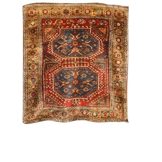Antique 19th Century Turkish Konya Rug