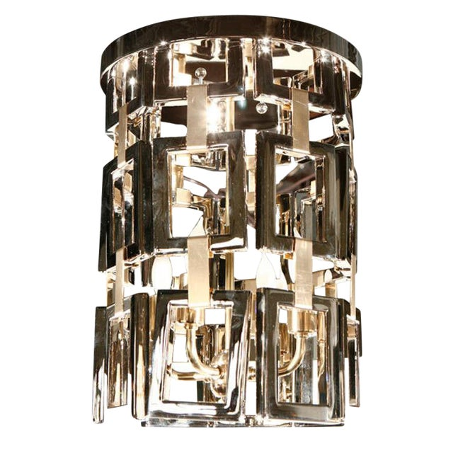 Paul Marra Link Fixture in Polished Nickel & Brass - Image 1 of 6