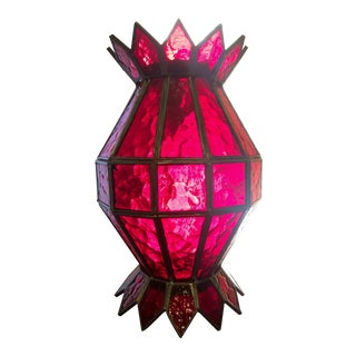 Vintage Red Glass Table/Hanging Lantern