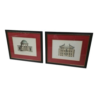 English Antique Architectural Prints - A Pair