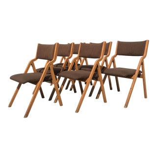 Mid-Century Modern Folding Chairs - Set of 6