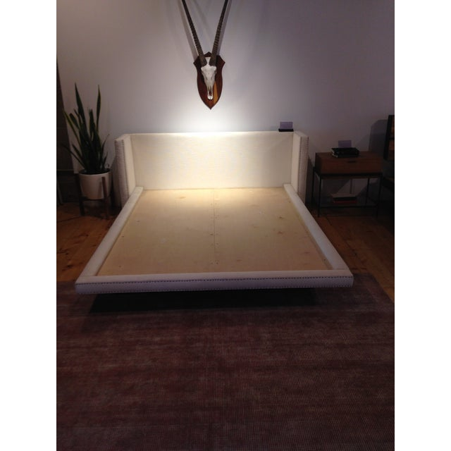 New/Unopened Croft House Upholstered Jayma Platform Bed W/ Nailhead - Full - Image 2 of 7