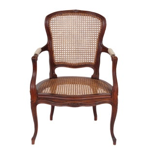 Antique Louis XV-Style Cane Armchair
