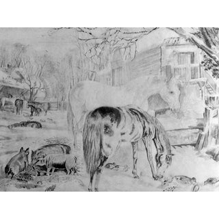 Antique Horses & Barn Yard Animals Drawing