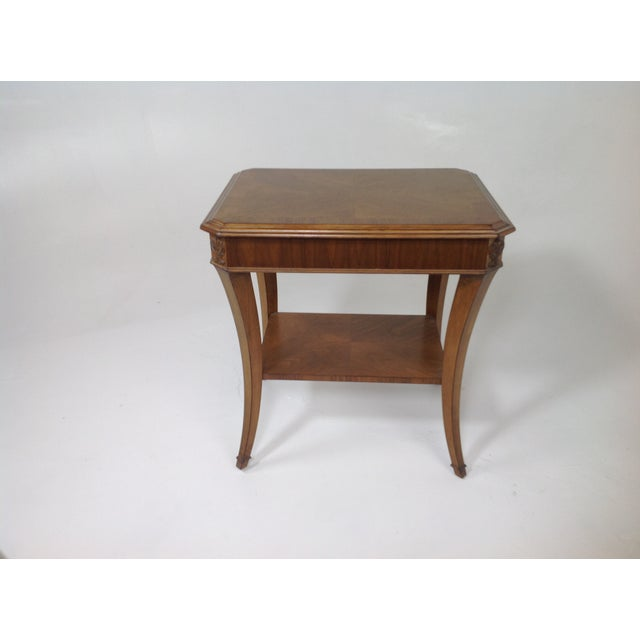 Modern Walnut End Table - Image 3 of 5