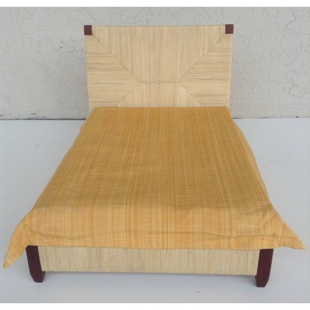 Donghia Merbau Bed Salesman Model/Sample - Image 6 of 8