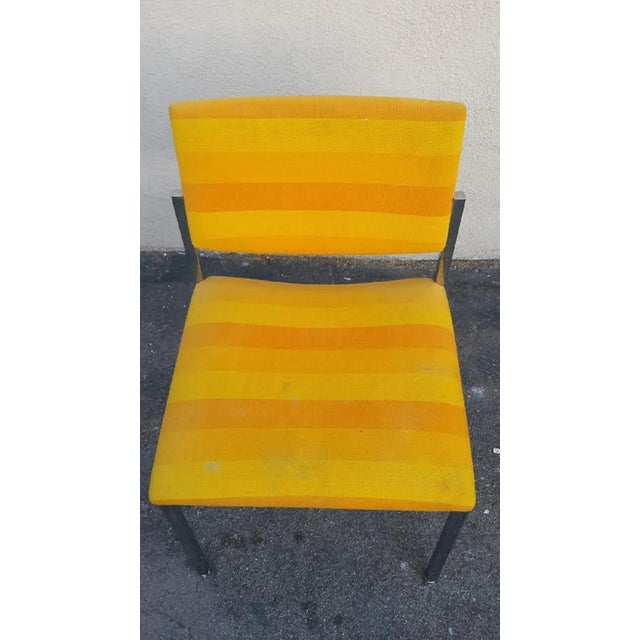Image of Steelcase Yellow Mid-Century Style Arm Chair