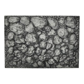 Abstract Black and White Etching by California Artist Arnold Grossman