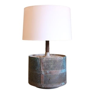 Industrial Vintage French Metal Table Lamp