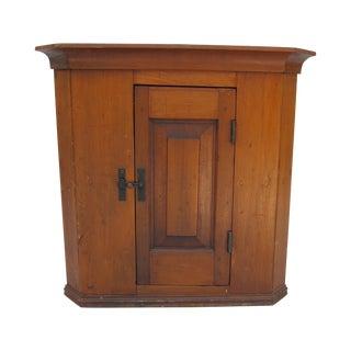 Cherry Wood Corner Cupboard