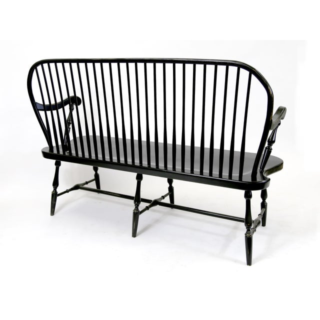 Traditional Windsor Style Amish Bench - Image 6 of 11