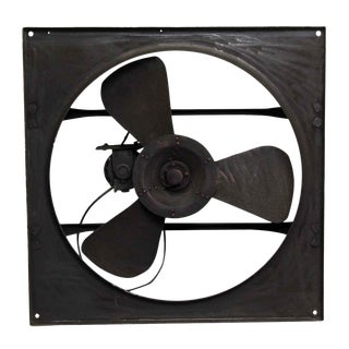 Black Metal Industrial Fan