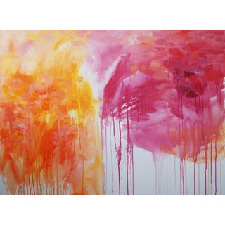 Kelly Witmer Pink & Orange Abstract Painting