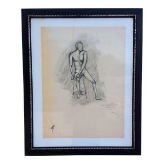1959 Nude Man Studio Miro By Peter Keil.