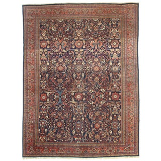 RugsinDallas Antique Hand Knotted Wool Persian Mahal Rug - 11′1″ × 15′