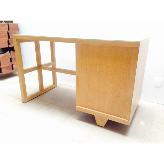 Mid Century Desk in Blonde Oak Finish - Image 4 of 7