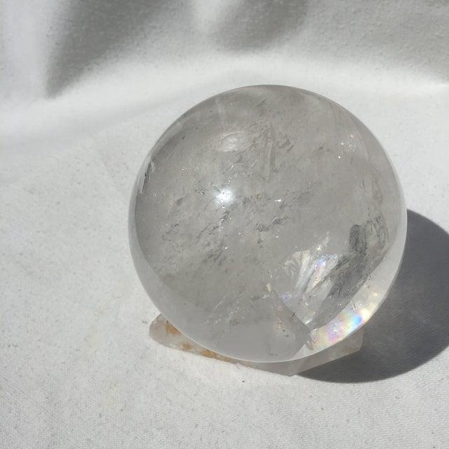 Large Quartz Crystal Ball - Image 5 of 9