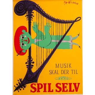 Mid-Century Modernist Art Poster by Bjorn Wiinblad