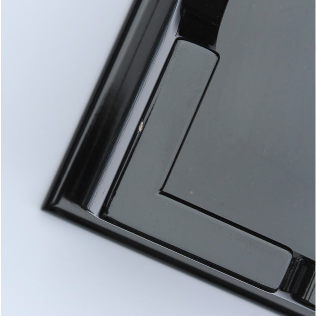 """Oomph """"Edgartown"""" Square Black Lacquer Tray - Image 6 of 8"""