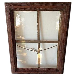 Antique Tramp Art Window Pane Frame