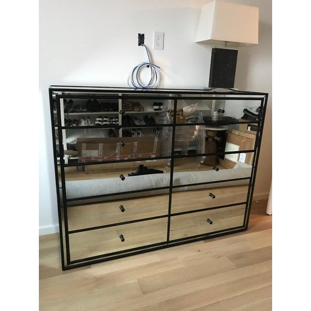 Restoration Hardware Strand 10-Drawer Mirrored Dresser - Image 3 of 6