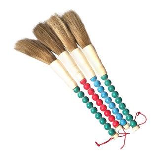 Chinese Bone & Beaded Horsehair Brushes