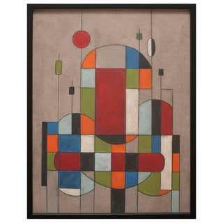 Color-Blocked Cubistic Painting by Jerry Williamson